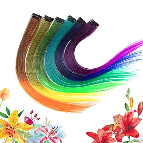 Strollway Schminkkasten Haarverlängerung Einzel Clip Farbverlauf Einteilige Perücke synthetische gerade Lange Ombre Haarteile