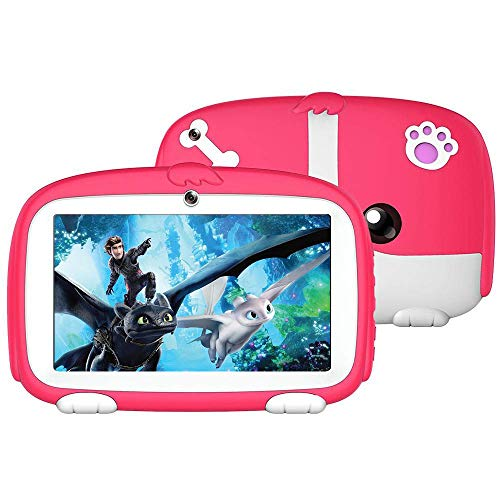 Womdee Tablet per Bambini, Smart Tablet Edizione per Bambini 7' HD Display, 8G + 32G per Bambini Supporto per l'apprendimento e Il Gioco Facebook, Youtube, Twitter (Rosa)
