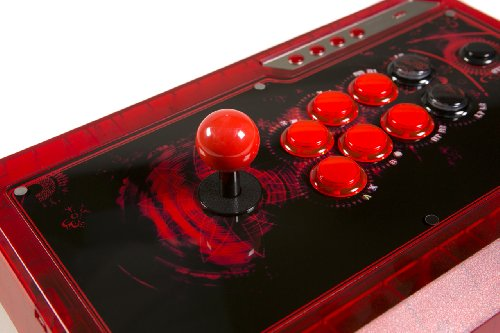 Qanba Q4 Q4RAF Joystick für PS3, Xbox 360 und PC (Fightstick), Ice Red (Marvel Ps3 Vs 2 Capcom)