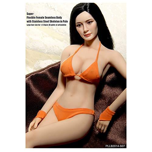 Envoyer La Tête à Envoyer Bikini 1/6 Acier Mannequin Squelette Gros Seins Corps De La Femme Super Flexible sans Soudure avec Squelette en Métal S07 S09 (S07)