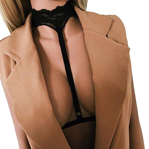Manadlian Büstenhalter, Frauen Harness BH elastischen Käfig -