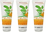 PATANJALI Orange And Aloevera Face Wash, 60g - Pack of 3