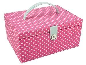 Button it bo te couture rose vif cuisine for Boite couture amazon