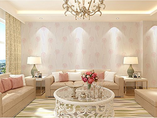 3d vlies tapete einfach modern idyllisch löwenzahn wohnzimmer schlafzimmer hochzeitszimmer fernsehkulisse tapete kaufen drei erhalten ein ( Color : White )