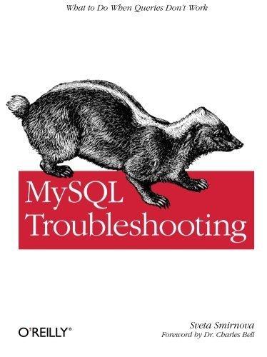 MySQL Troubleshooting: What To Do When Queries Don't Work 1st edition by Smirnova, Sveta (2012) Paperback par Sveta Smirnova