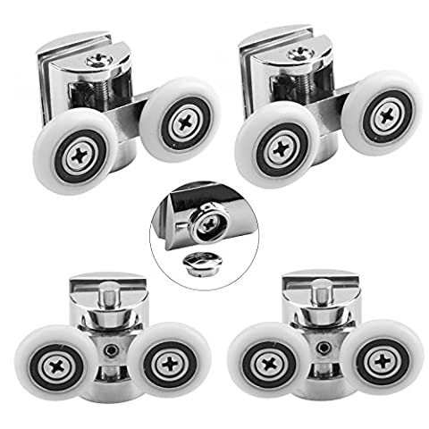 MultiWare Shower Door Wheels 23mm Shower Door Rollers 4pcs (2 top+2 buttom)
