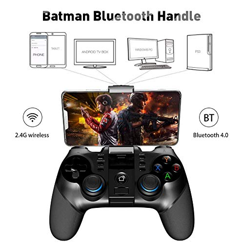 Kabelloser Gamepad Bluetooth Gamecontroller 2,4 G Empfänger unterstützt PS3 Spielkonsole, USB-Ladegerät, Teleskophalterung Batman Bluetooth Spielgriff -