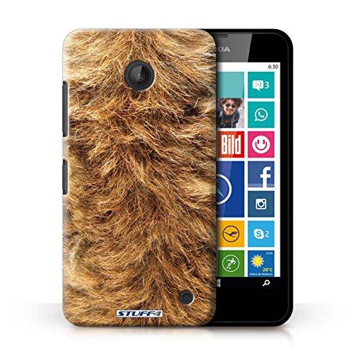 Kobalt® Imprimé Etui / Coque pour Nokia Lumia 635 / Zèbre conception / Série Motif Fourrure Animale Chien