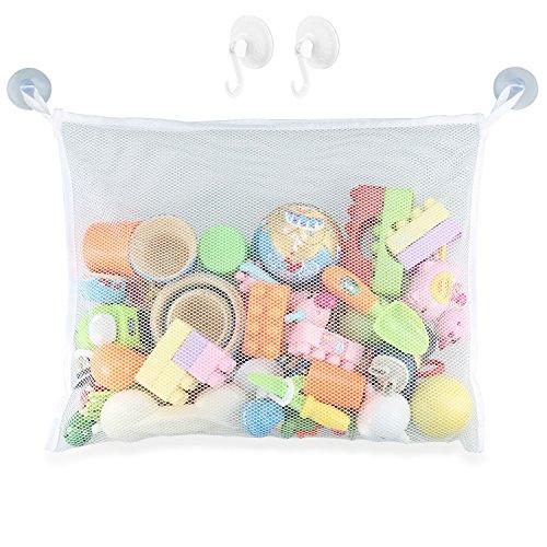 Preisvergleich Produktbild Foonii Praktische Baby Kleinkindspielzeug Lagerung Saugnapf Tasche Ineinander greifen-Netz Badezimmer Veranstalter Badewanne Spielzeugtasche (45 x 35 cm)