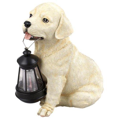 Globo Solar Außenleuchte Kunststoff Hund braun-weiß1 x LED weiß, 24.5 x 16.5 cm, H: 26.5 cm, 33372