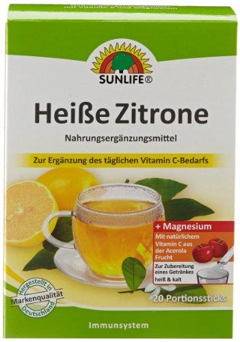 Vitamin C Zitrone (Sunlife Heiße Zitrone mit Acerola, 6er Pack (6 x 80 g))