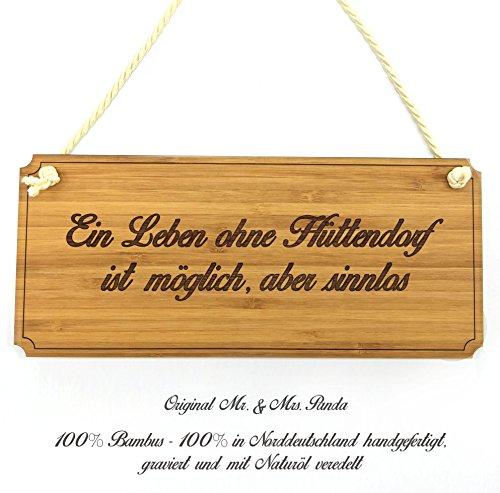 Mr. & Mrs. Panda Türschild Stadt Hüttendorf Classic Schild - Gravur,Graviert Türschild,Tür Schild,Schild, Fan, Fanartikel, Souvenir, Andenken, Fanclub, Stadt, Mitbringsel