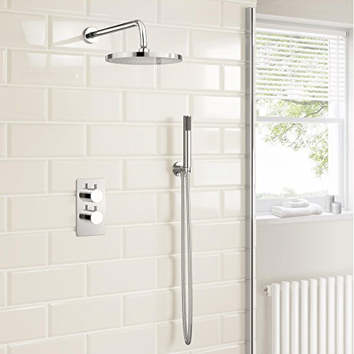 Concealed Chrome Bathroom Thermostatic Mixer Shower Set with Handheld SG2001