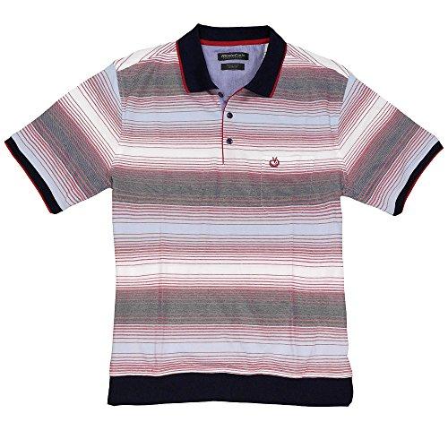 Gestreiftes Poloshirt von Monte Carlo in Übergröße Mehrfarbig