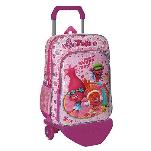 Imagen de trolls happy  escolar, 40 cm, 19.2 litros, rosa