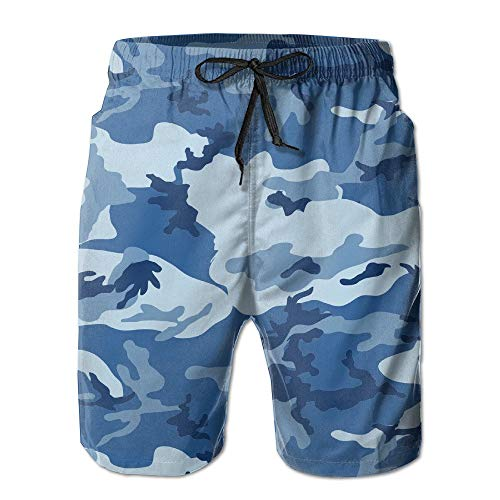 Old Navy Camo (sexy world Blue Naval Camo Navy Men's Quick Dry Beach Board Shorts Summer Swim Trunks for Father's Day for Boy Large)