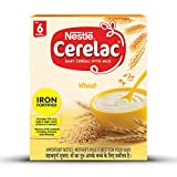 Nestlé CERELAC Fortified Baby Cereal with Milk, Wheat - From 6 Months, 300g BIB Pack