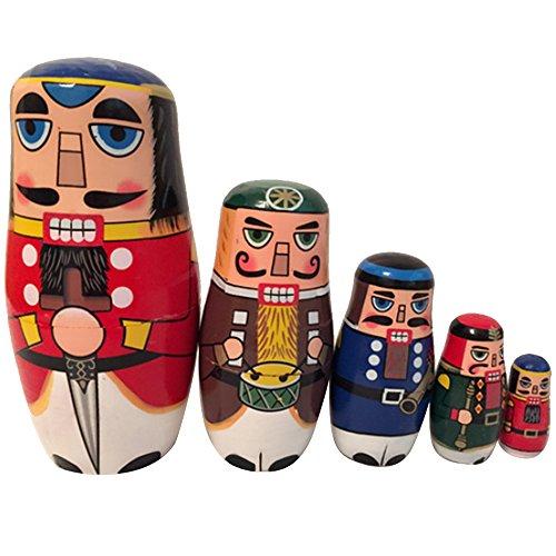 Beetest Matroschka Russische Hölzerne Schachtelung Puppen Weihnachts Dekoration