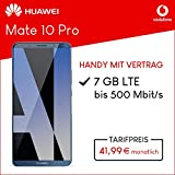 Huawei Mate 10 Pro (Midnight Blue ) 128GB Speicher Handy mit Vertrag (Vodafone Smart L Plus) 7GB Datenvolumen 24 Monate Mindestlaufzeit