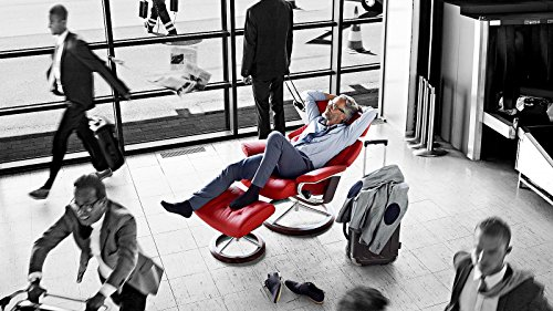 Stressless® Skyline Sessel mit Hocker (M) Rot günstig - 2