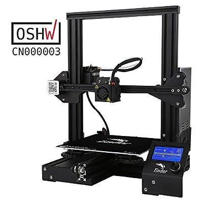 Comgrow Creality Ender 3 3D Printer Aluminum Prusa i3 DIY with Resume Print 220*220*250mm