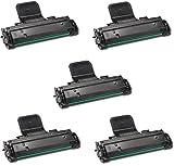 5 Toner Kompatibel für Samsung SCX-4725F SCX-4725FN - Schwarz, Hohe Kapazität