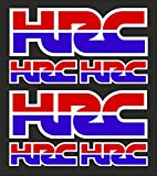6stk HRC Honda Racing Corporation Aufkleber Sticker Decal Logo Motorrad Bike VFR CBR Fireblade