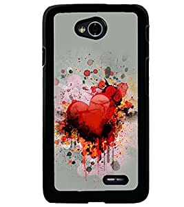 PRINTVISA Abstract Heart Love Case Cover for LG L70
