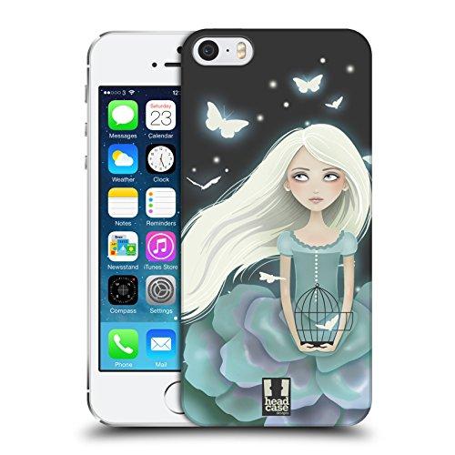 Head Case Designs Sushi Gruppe Sushi Time Soft Gel Hülle für Apple iPhone 5 / 5s Glühendes Blaues Mädchen