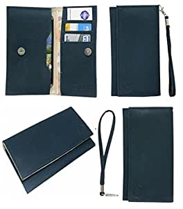 Jo Jo A5 G8 Leather Wallet Universal Pouch Cover Case For Samsung Galaxy V Dark Blue