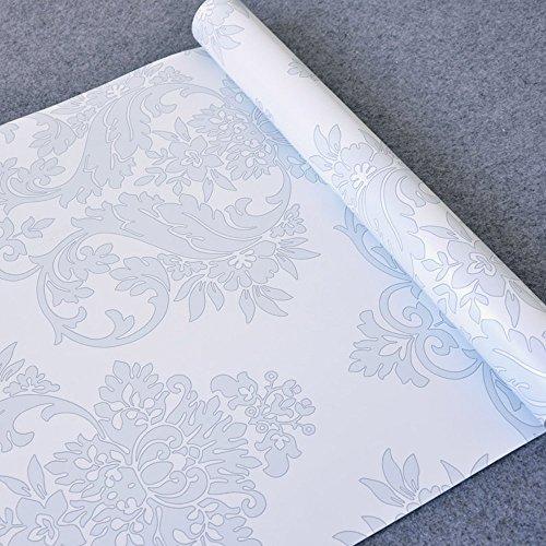 SimpleLife4U Grau mit Blumenmuster Kontakt Papier Selbstklebend