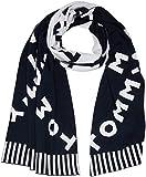 Tommy Hilfiger Damen Schal All Over Logo Knit, Blau Navy 413, One Size (Herstellergröße: OS)