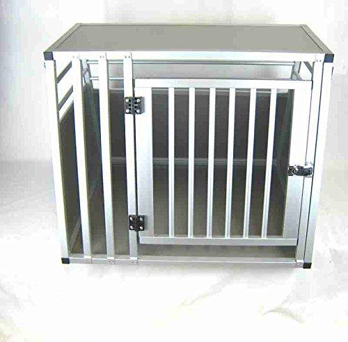 Hundebox Transportbox Aluminium 80 x 65 x 65cm Hundetransportbox Gr. M
