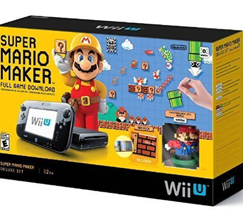 Nintendo WUPSKAGT Wii U Super Mario Maker Console Deluxe Set (Refurbished) by Nintendo