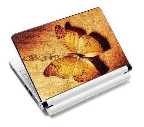 Luxburg® Design Aufkleber Schutzfolie Skin Sticker für Notebook Laptop 10 / 12 / 13 / 14 / 15 Zoll, Motiv: Vintage Schmetterling