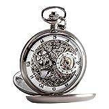 Carl von Zeyten Herren Skeleton Mechanik Uhr mit Edelstahl Armband CVZ0039WH