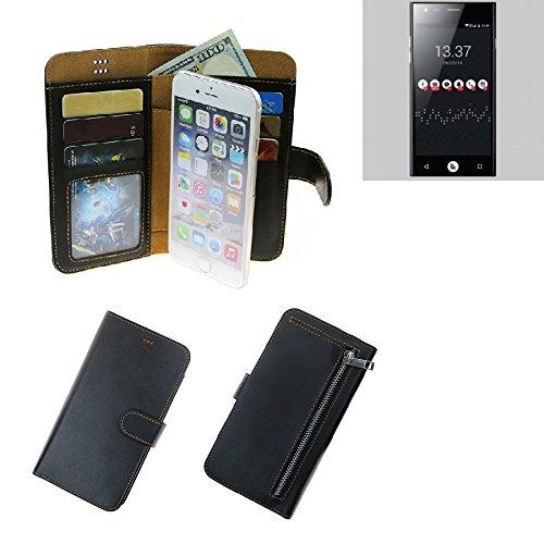 K-S-Trade® Für ID2ME ID1 Schutz Hülle Portemonnaie Case Phone Cover Slim Klapphülle Handytasche Schutzhülle Handyhülle Schwarz Aus Kunstleder (1 STK)