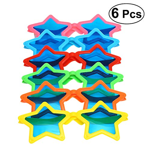 (YeahiBaby 6pcs Kids Star Shaped Sonnenbrillen Kostüme Cosplay Halloween Party Fun Party Favor Photo Booth Requisiten)