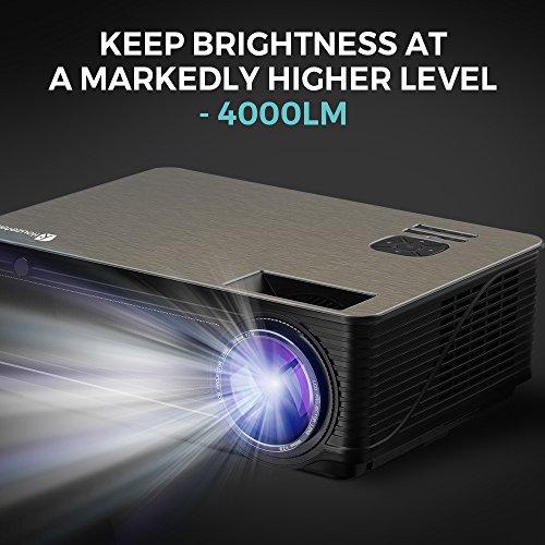 Zoom IMG-1 proiettore houzetek supporto 1080p 4000