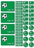Mein Zwergenland Namensaufkleber Heftaufkleber Etiketten Sticker Stickerbogen Fussball