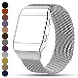 Fitbit Ionic Smartwatch Ersatz Uhrenarmbänder, iFeeker Magnetverschluss Milanese Loop Edelstahl Armband Handschlaufe Uhrenarmband für Fitbit Ionic Fitness Smartwatch