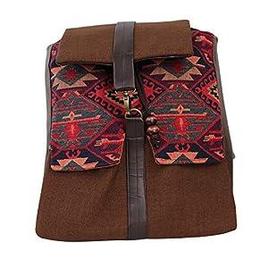Rucksack Damen 33cm wasserdicht 'braun' greca| Tasche | HANDMADE | Geschenkideen für Frauen