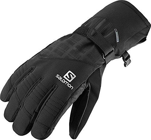 Salomon, Herren wasserdichte Ski-Handschuhe, Touchscreen kompatibel, Leder-Innenhand, PROPELLER DRY M, Größe: M, Schwarz, L36337300