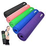 JLL® Yoga Mat, 6mm Thick Exercise Fitness Workout, Mat Physio Pilates Camping Gym