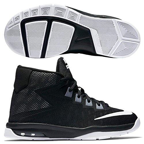 Nike Air Devosion (Gs), espadrilles de basket-ball garçon Black