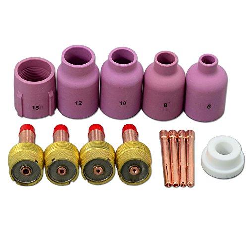 Großer Durchmesser WIG Gasdüsen keramik für PTA DB SR WP 17 18 26 WIG Brennerhals 14pcs Durchmesser Objektiv