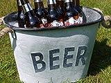 Large Metal Drinks Beer Tub Champagne Wine Bottle Holder Ice Cooler Bucket 36cm