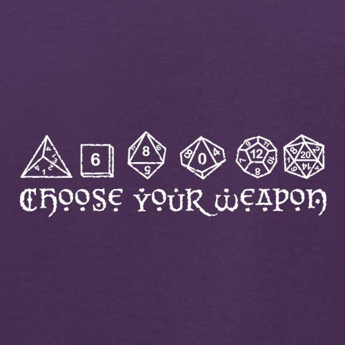 Choose your Weapon (D&D Dice) - Herren T-Shirt - 13 Farben Lila