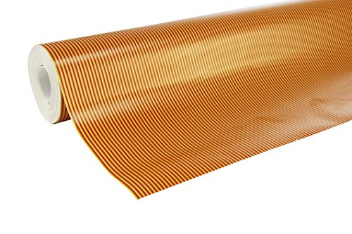 Clairefontaine Rouleau Alliance 50X0,70M Rayure Or/Rouge