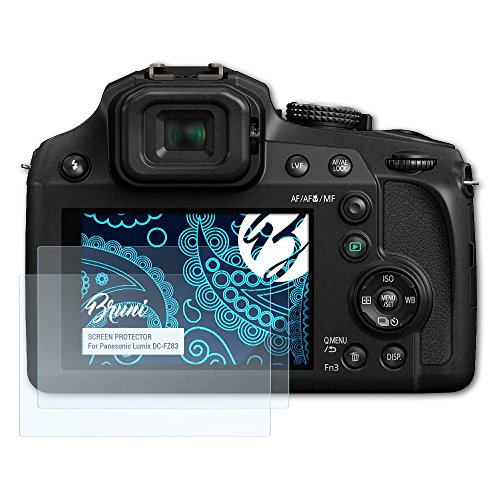 Bruni Schutzfolie für Panasonic Lumix DC-FZ83 Folie, glasklare Displayschutzfolie (2X)
